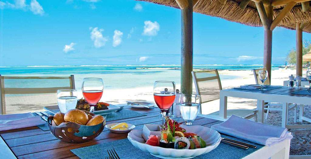 Dining on the beach at La Plage