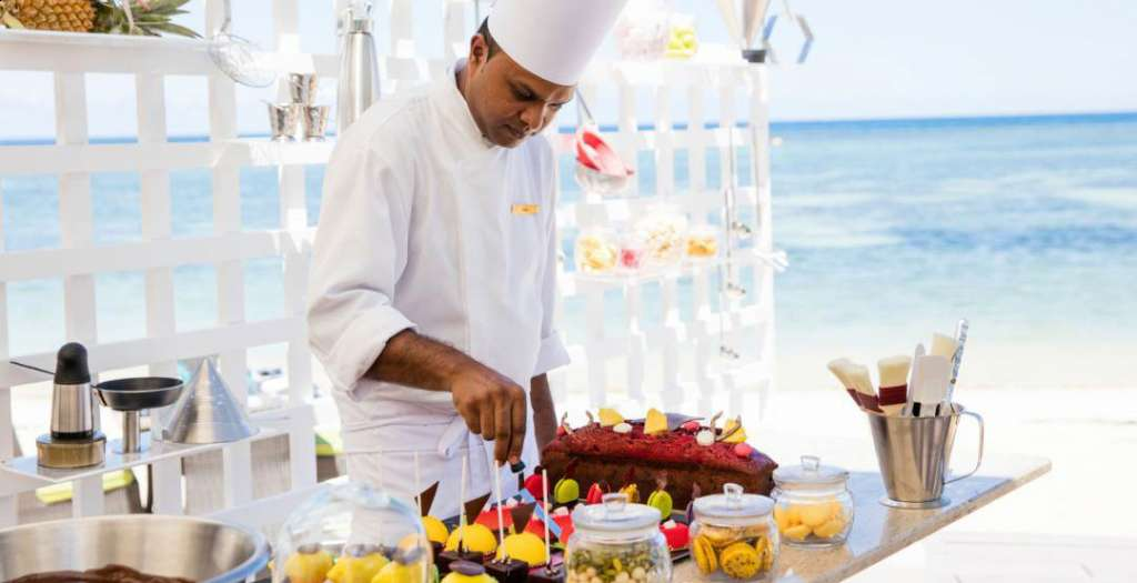Chef serving up beach side treats