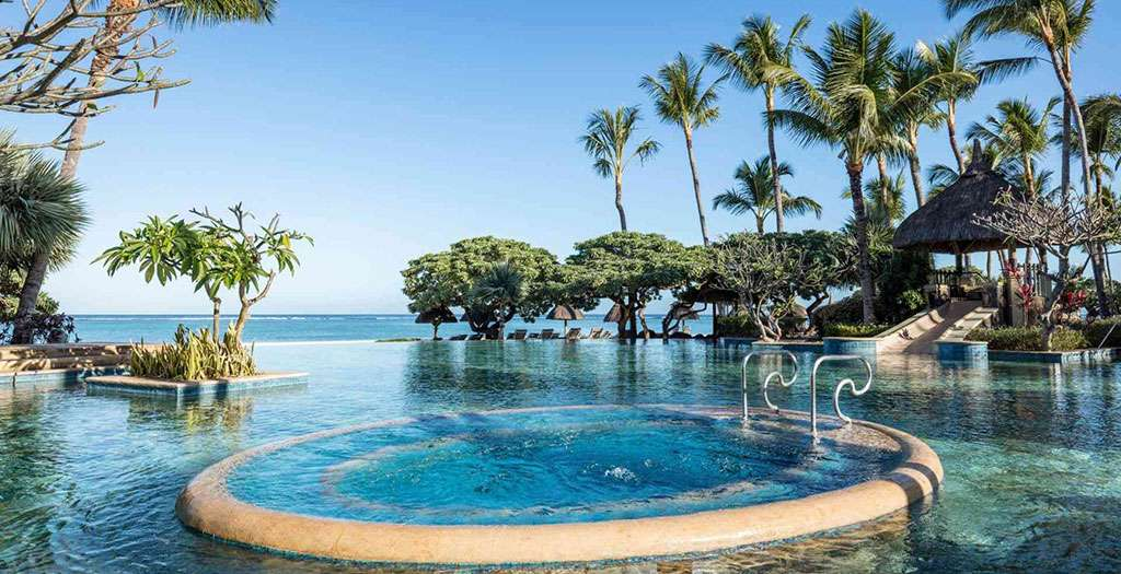 Dive into the stunning main pool