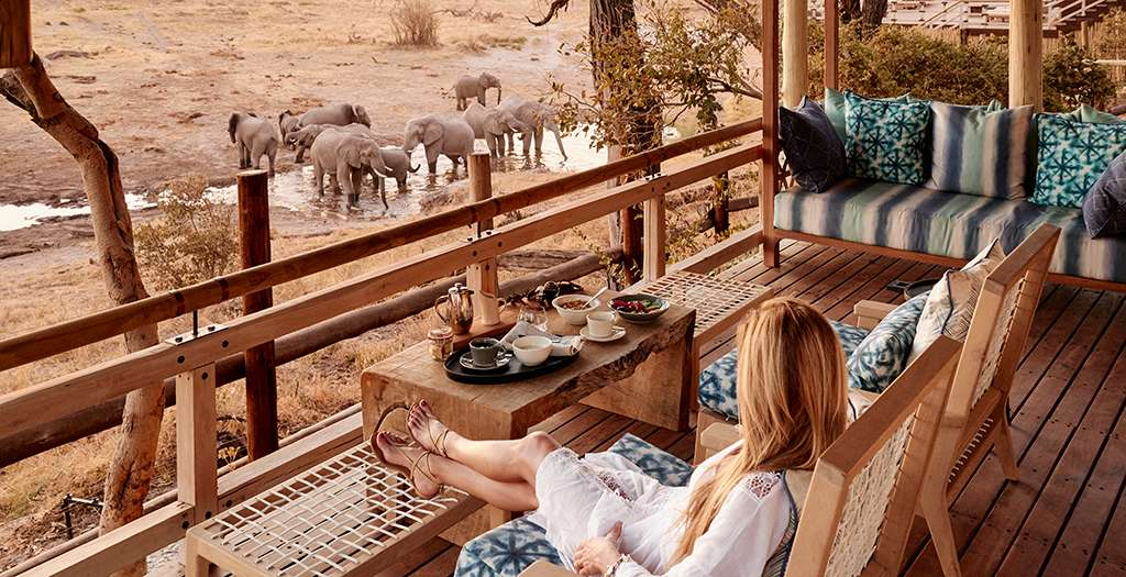 Watch wildlife from your private deck