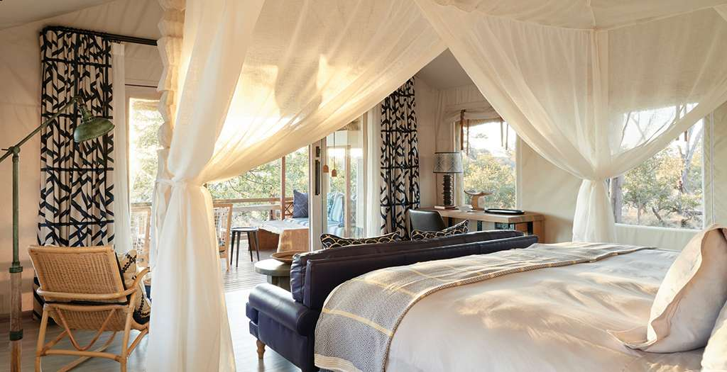 Interior of your tented suite