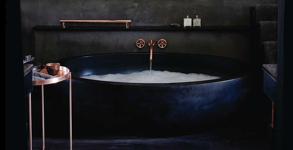 Luxurious tubs and outdoor showers
