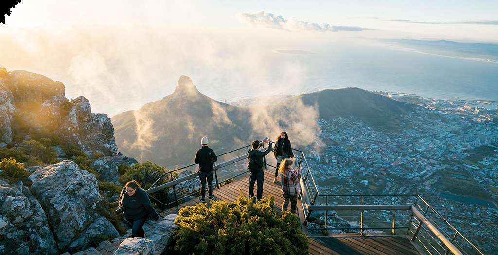 Go to the top of Table Mountain