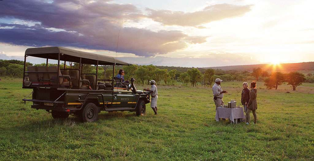 go on a sunset game drive